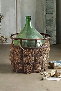 Venetian Demijohn in Basket
