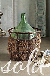 Venetian Demijohn in Basket