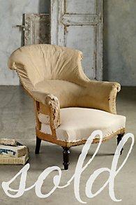 Napoleon III Scroll Back Armchair