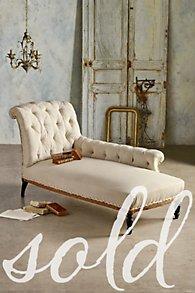 Napoleon III Tufted Chaise Lounge